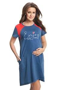 Dorota Materská dojčiaca košieľka Michele modro-červená XL