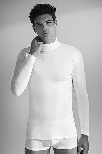 Enrico Coveri Pánske tričko s dlhým rukávom E.Coveri 1015 biela XXL