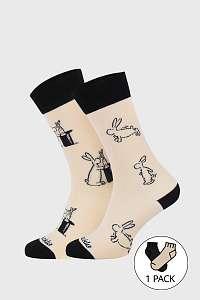 Fusakle Ponožky Fusakle Bob a Bobek CZ béžová-46