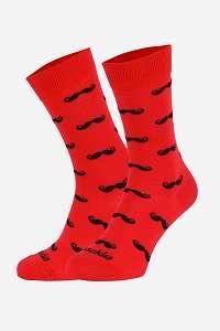 Fusakle Ponožky Fusakle Fúzač červené červená-42