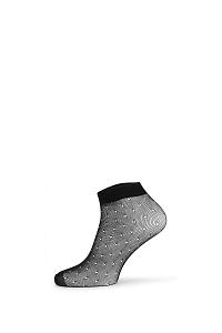 Gatta Sieťované ponožky Fishnet ČIERNA uni