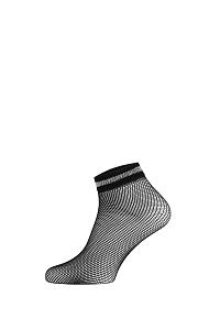 Gatta Sieťované ponožky Fishnet III čiernostrieborná uni