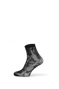 Gatta Sieťované ponožky Fishnet IV ČIERNA uni