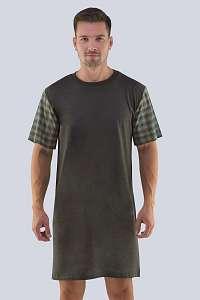 GINO Pánska nočná košeľa Richard tmavosivá XXL