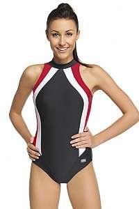 GWINNER Dámske plavky Olivia jednodielne čierno-červená