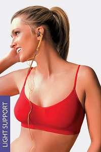 Hanna Style Podprsenka Hanna 23  bezšvová nevystužená červená uni