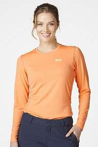 Helly Hansen Oranžové tričko s dlhými rukávmi Helly Hansen oranžová S