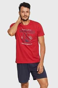 Henderson Červeno-modré pyžamo Relax červená XL