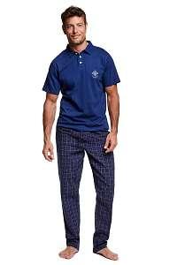 Henderson Pánske pyžamo s golierom vote modrá L