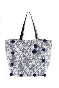 Iconique Plážová taška Maria béžovo-modrá uni