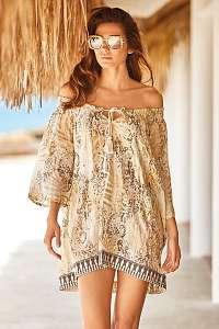 Iconique Plážové šaty Emma béžová XL