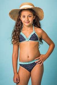 Lentiggini a Mila Swimwear Dievčenské dvojdielne plavky Natalie modrá 116