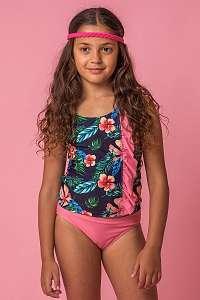Lentiggini a Mila Swimwear Dievčenské tankiny Flower viacfarebná 164