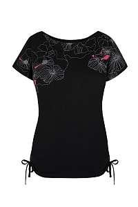 LOAP Dámske čierne tričko LOAP Adelie ČIERNA L
