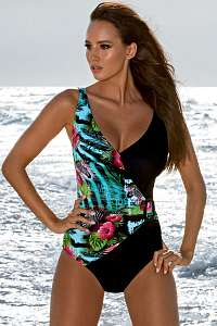 Madora Dámske jednodielne plavky Jessica 01 farebná