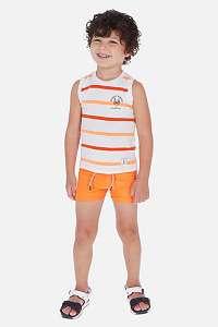Mayoral Moda Infantil, S:A.U. Súprava 2 ks chlapčenských plaviek NEON oranžová 5