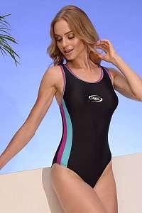 Volin Dámske športové jednodielne plavky Alex 04 čierno-ružová XL