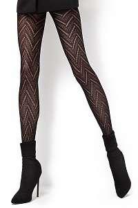 Vzorované pančuchové nohavice Lola2 60 DEN