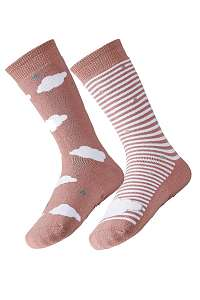 Ysabel Mora 2 pack dámskych hrejivých ponožiek Cloud ružová-41