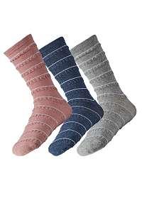 Ysabel Mora 3 pack dámskych ponožiek Lea farebná-41