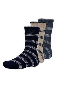 Ysabel Mora 3 pack detských hrejivých ponožiek Rakr farebná-28