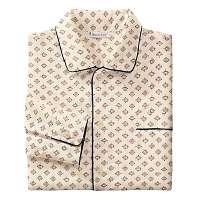 Blancheporte Predĺžený pyžamový kabátik s potlačou béžová 97/106 (L)