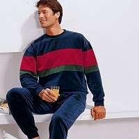 Blancheporte Velúrové pyžamo trojfarebná 78/86 (S)
