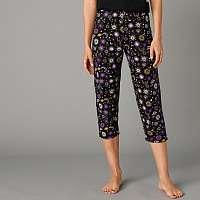 Blancheporte 3/4 pyžamové nohavice s potlačou čierna
