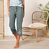 Blancheporte 3/4 pyžamové nohavice so stredovou potlačou kvetín bronzová