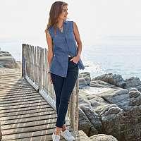 Blancheporte 7/8 úzke džínsy, ekologické spracovanie modrá
