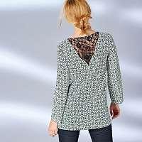 Blancheporte Blúzka v grafickom dizajne čierna/zelená