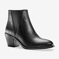 Blancheporte Členkové čižmy s gumou, čierna čierna