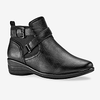 Blancheporte Členkové topánky na podpätku čierna