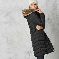 Blancheporte Dlhá prešívaná bunda s kapucňou čierna
