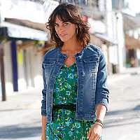Blancheporte Džínsová bunda v opranom vzhľadeň zapr. modrá