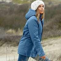 Blancheporte Funkčná parka s kapucňou modrosivá