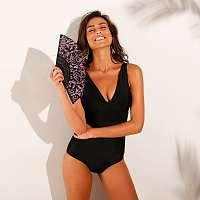 Blancheporte Jednodielne trojuholníkové plavky, vyberateľné vypchávky čierna