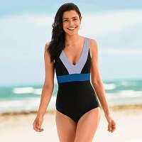 Blancheporte Jednodielne tvarujúce plavky Rezza, vyberateľné vypchávky čierna