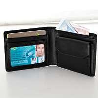 Blancheporte Kožená peňaženka čierna