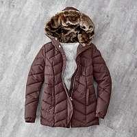 Blancheporte Krátka bunda s kapucňou čokoládová