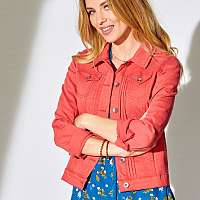 Blancheporte Krátka džínsová bunda, farebná červená