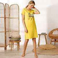 Blancheporte Krátka nočná košeľa, potlač včielka žltá