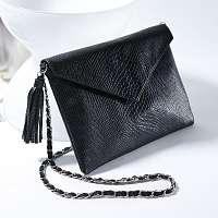 Blancheporte Listová kabelka so vzorom hadej kože čierna