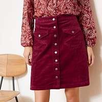 Blancheporte Menčestrová sukňa bordó