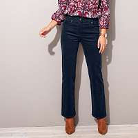 Blancheporte Menčestrové nohavice s gombíkmi námornická modrá