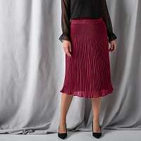 Blancheporte Midi plisovaná sukňa slivková