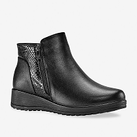Blancheporte Nízke čižmy na kline, so zipsom, čierna čierna