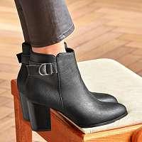Blancheporte Nízke čižmy s ozdobnou sponou čierna
