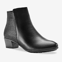 Blancheporte Nízke čižmy sa leskom a koženým vzhľadom, čierna čierna