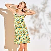 Blancheporte Nočná košeľa s potlačou citrónov žltá